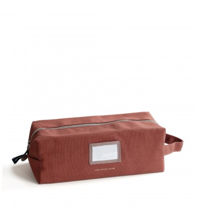 ESTUCHE NECESER MARRON CHOCOLATE GRANDE