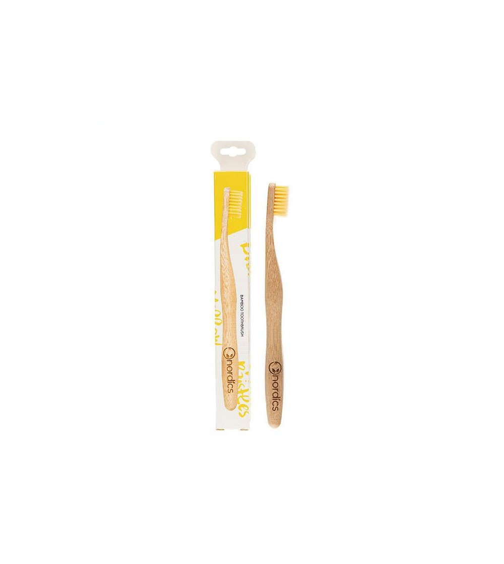CEPILLO DENTAL BAMBU AMARILLO
