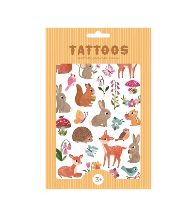 TATUAJES TEMPORALES WOODLAND FRIENDS