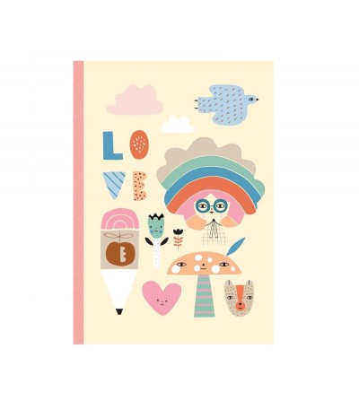 CUADERNO RAINBOW GIRL